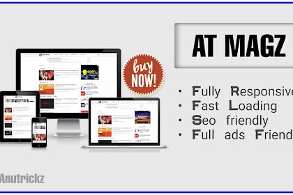 [BUY NOW] ATMagz Seo Based Blogger Template 2019