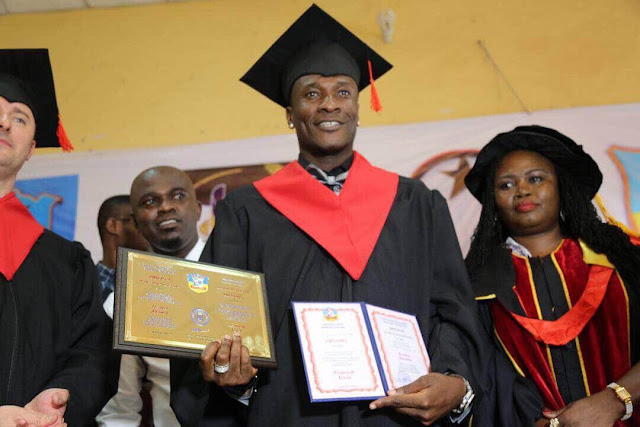 Ghana Black Stars Captain Asamoah Gyan Honored With Doctorate Degree