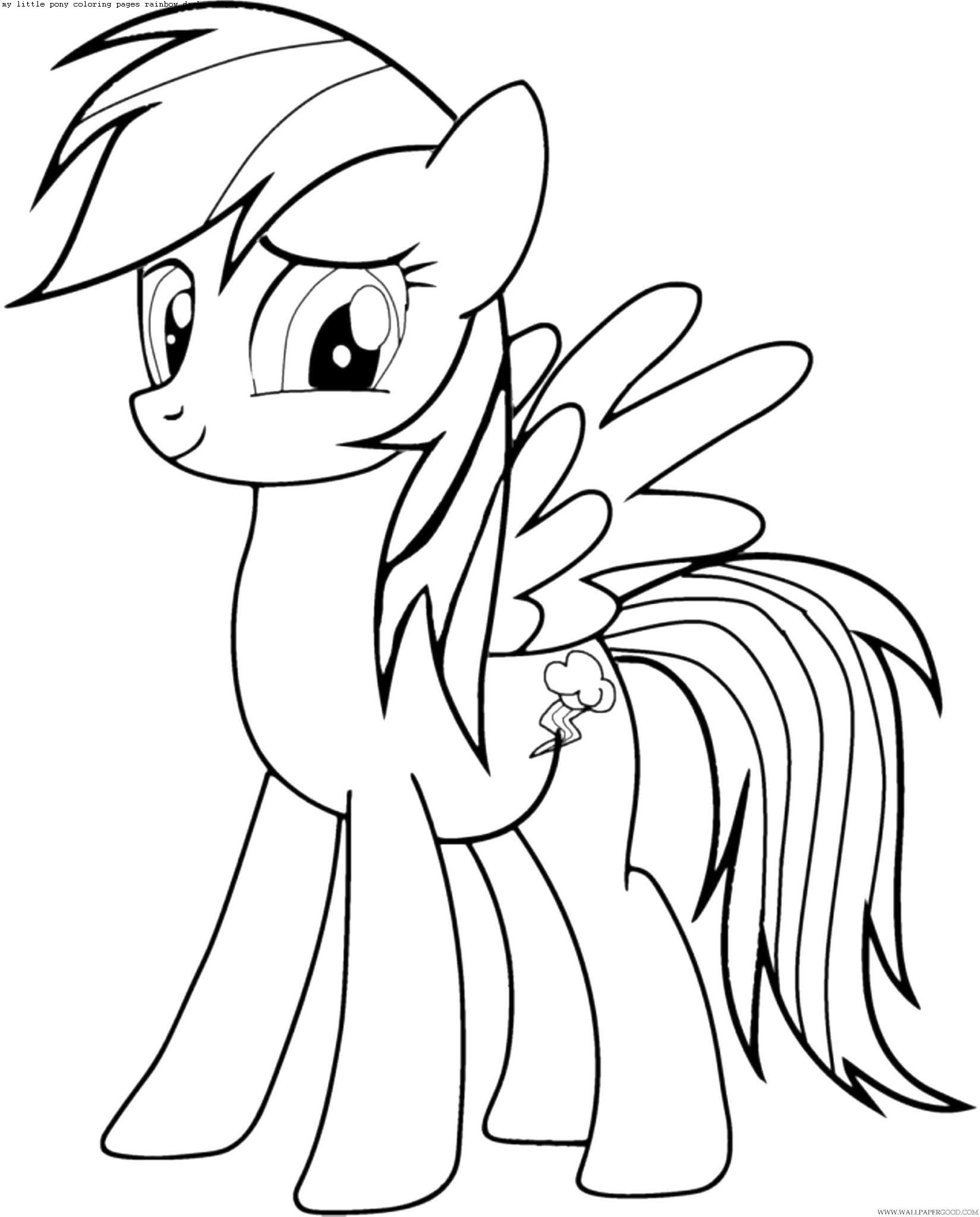 coloring pages rainbow dash dress