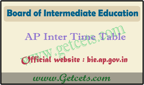 AP Intermediate time table 2021 pdf, bieap ipe 1st & 2nd year exam dates