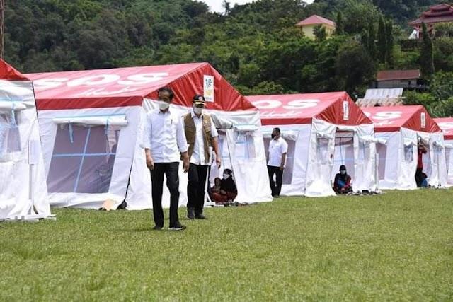 Pengungsi Korban Gempa Mamuju Sulbar Disediakan Tenda