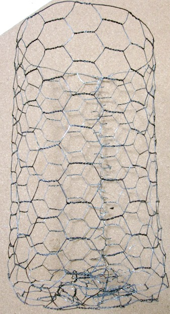 Roll of chicken wire with a patina