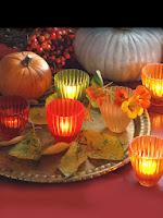 аранжировка с тикви и свещи