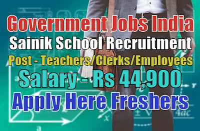 Sainik School Recruitment 2020