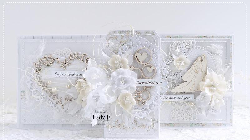Handmade Wedding Cards in White & Ivory