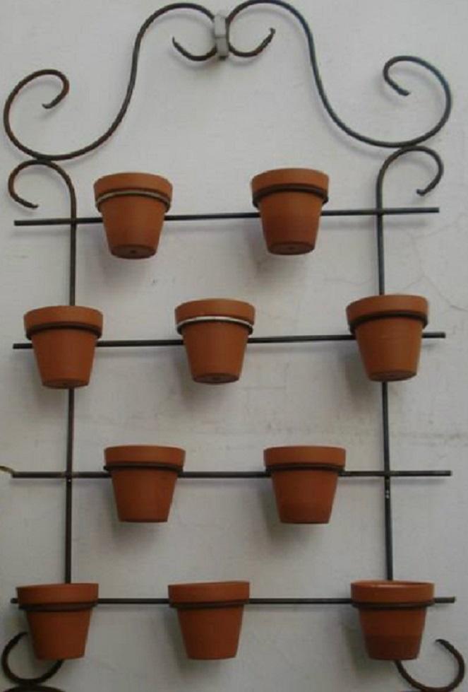 Mis cultivos porta macetas estructuras de hierro - Colocar fotos en pared ...