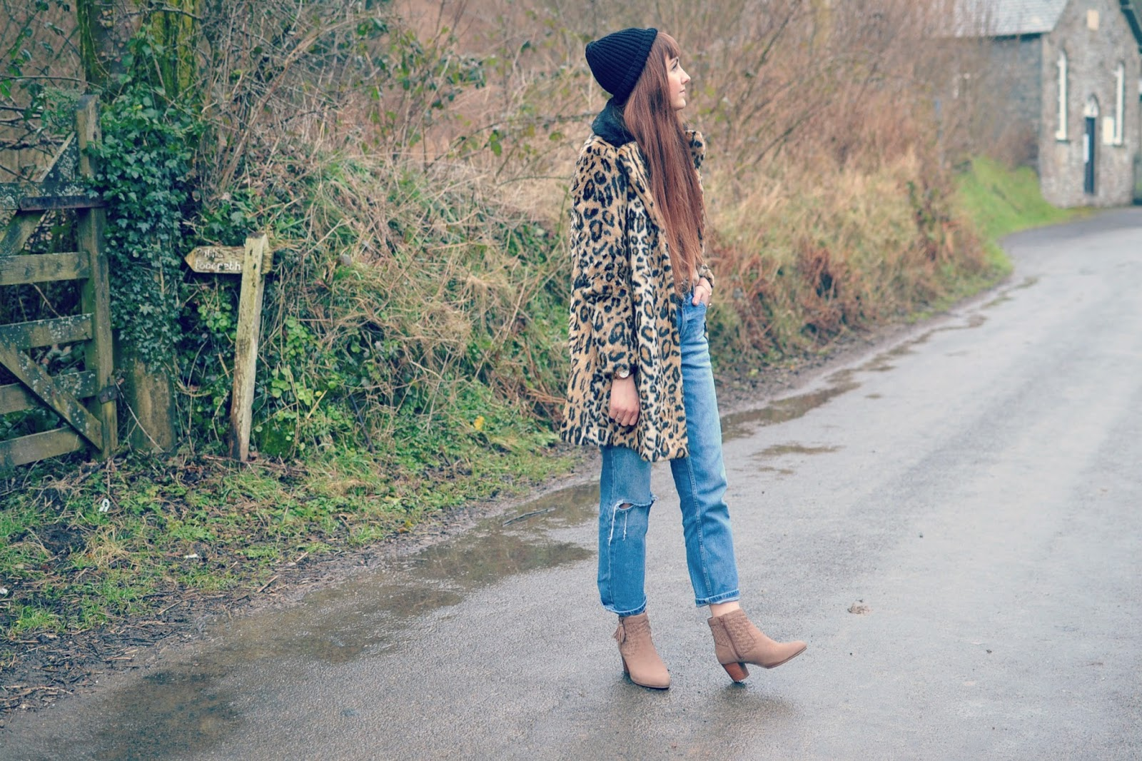 New Look boots Topshop coat