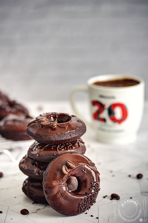 Čokoladne krofne (iz rerne)