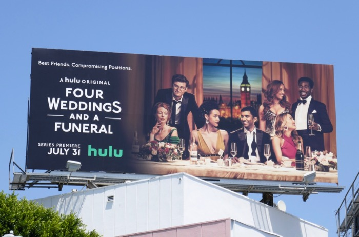 Four Weddings and Funeral TV remake billboard