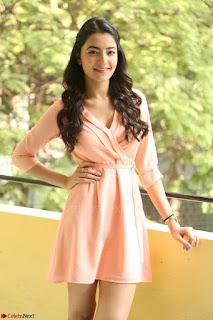 Rukshar Mir in a Peachy Deep Neck Short Dress 135.JPG