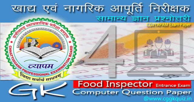 its cg vyapam food inspector exam related computer gk question and answer in hindi quiz | chhattisgarh sanyukt pariksha (combined) | results | model answers | syllabus | admit cards | basic computer knowledge fundamental question | type of social networking Sites | virus | input output device| impact-non impact printer| google services | operating system| non-volatile memory online gk quiz mock test (cggkquiz) etc.