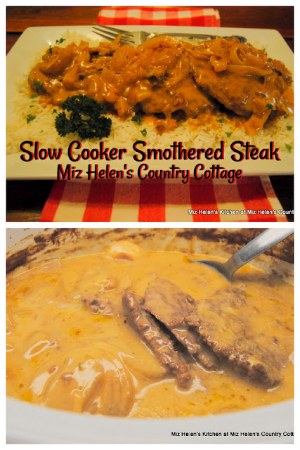 Slow Cooker Smothered Steak at Miz Helen's Country Cottage
