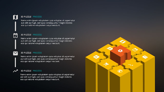 3D Puzzle for infographic process