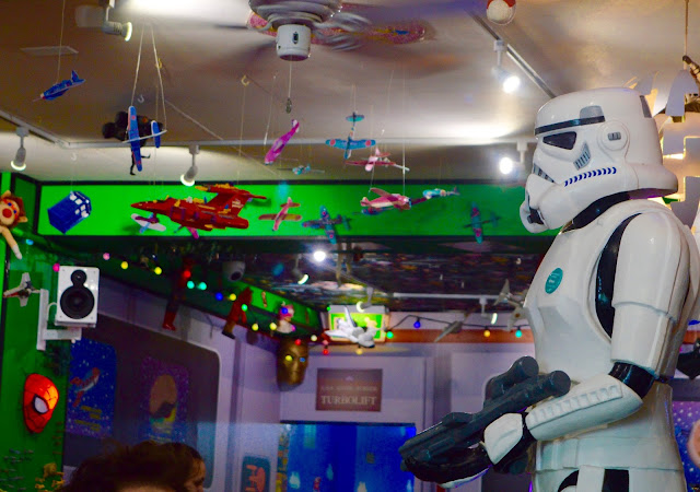Star Wars Storm Trooper in Atomic Burger Bristol