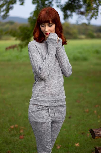 Grey Loungewear Tracksuit Set- Maria from FemmeLuxeFinery.co.uk