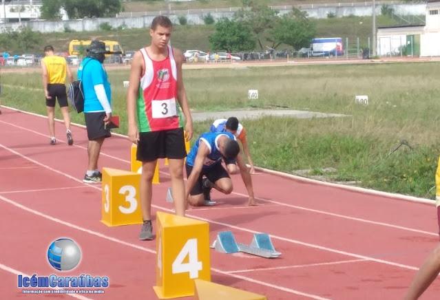 Caraubense João Victor ganha medalha de ouro e prata em competição estadual de atletismo em Natal