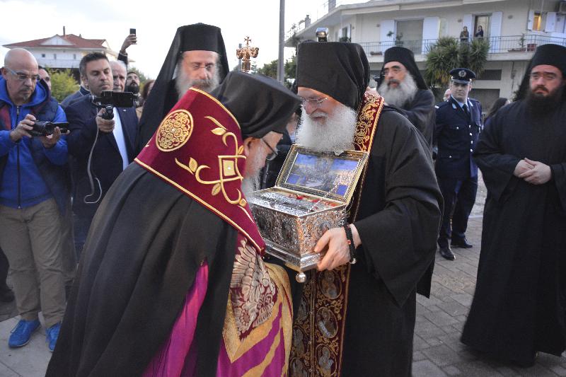 Η υποδοχή της Αγίας Ζώνης της Παναγίας   στην Ιερά Μητρόπολη Αιτωλίας και Ακαρνανίας