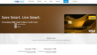 BMB Gold and More Credit Card, How to Apply SBI Credit Card Online