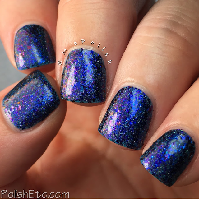 Top Shelf Lacquer - Holiday Flake Out Collection - McPolish - Blue Bell Cocktail