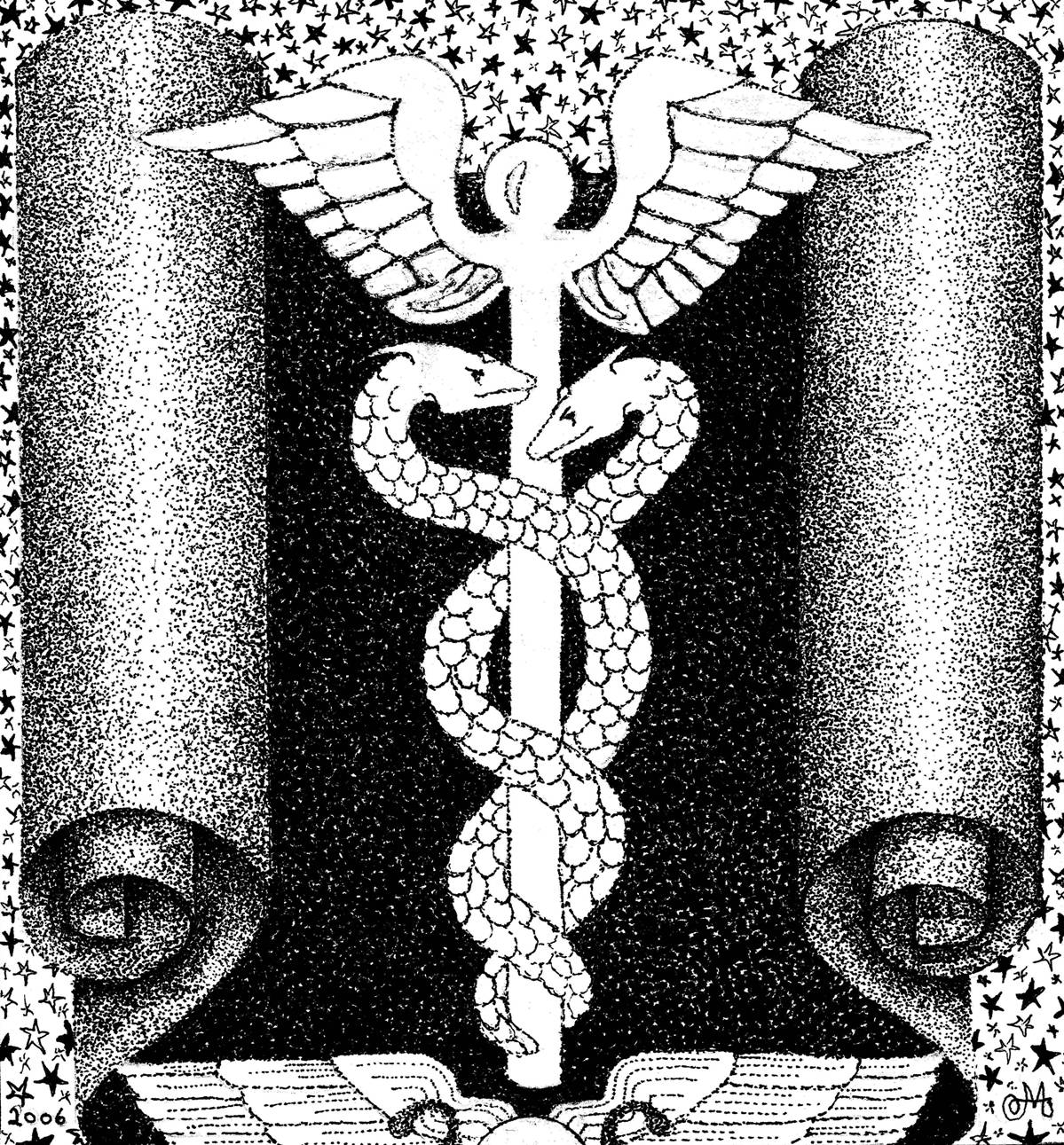 Two Ends Of The Pen World Of Symbols Caduceus