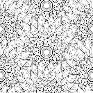 תבנית גאומטרית פרחים לטו בשבט