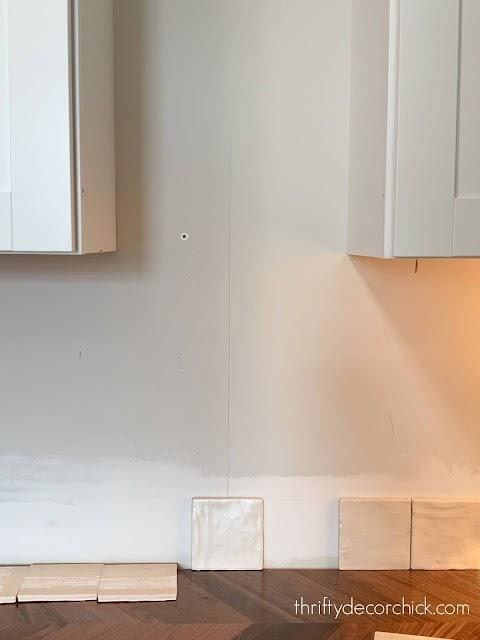 Centering tile before install