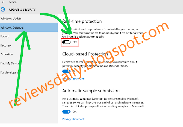disable windows defender antivirus