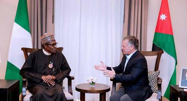 Details of Buhari, King of Jordan's meeting emerge