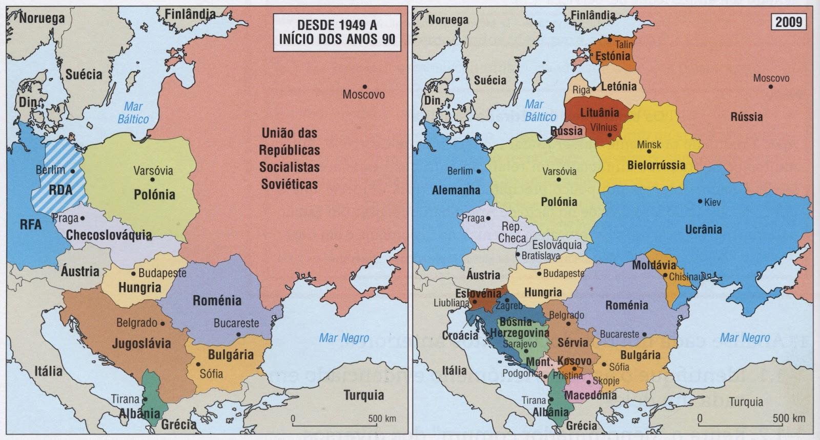 novo mapa politico da europa Linha do Tempo: A evolução política e económica da Europa de Leste novo mapa politico da europa