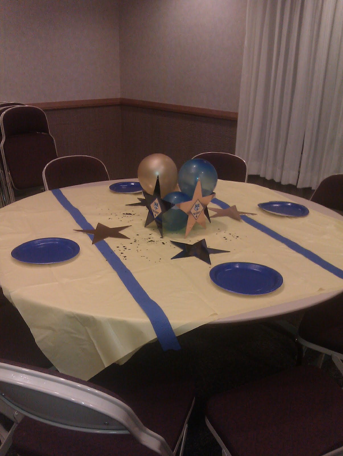 Pony Express District Cub Scouts Blue And Gold Table Decor Ideas