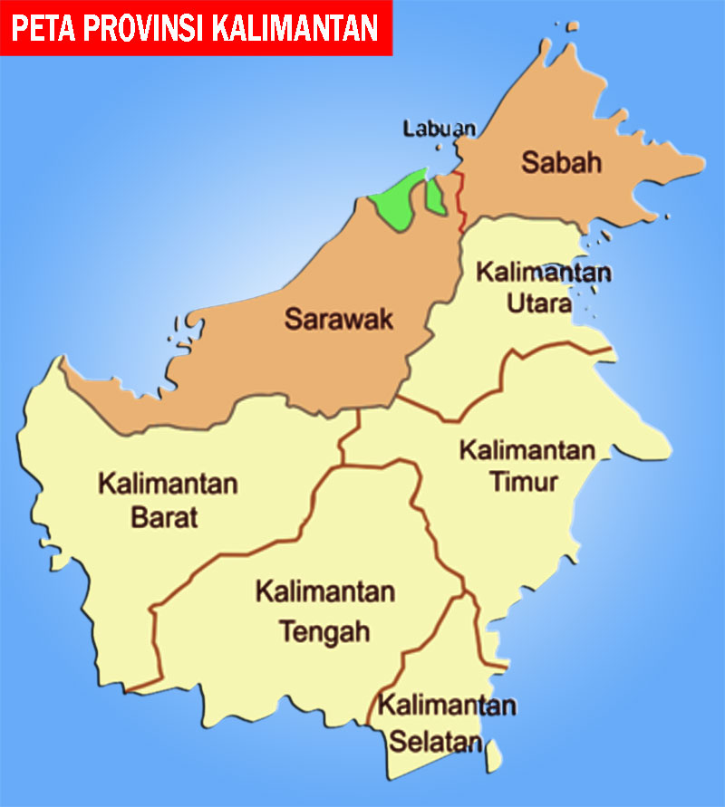 Peta Kalimantan Lengkap 5 Provinsi Peta Dunia Sejarah Indonesia