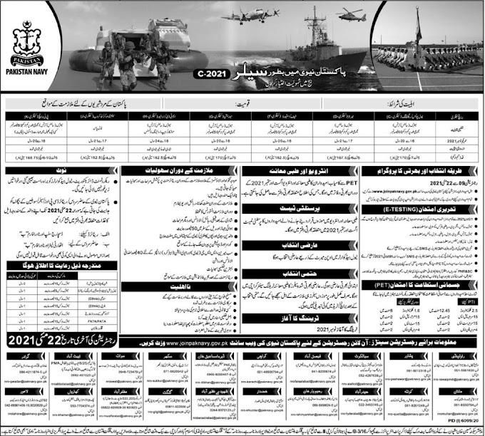 Latest Pakistan Navy Jobs 2021 | Latest govt jobs in pakistan