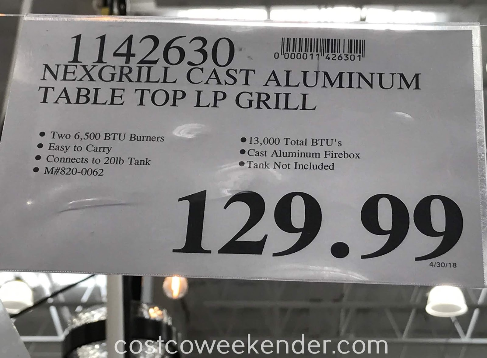 Deal for the Nexgrill Fortress 2 Burner Cast Aluminum Table Top Gas Grill at Costco