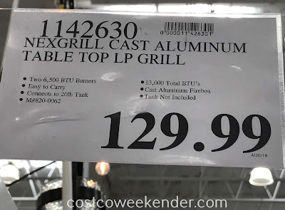 Deal for the Nexgrill Fortress 2 Burner Cast Aluminum Table Top Gas Grill at Costco