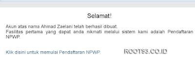 Proses pembuatan npwp secara online 6