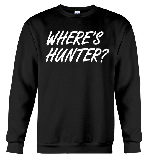 Wheres hunter T Shirt where's hunter biden T Shirts Hoodie. GET IT HERE