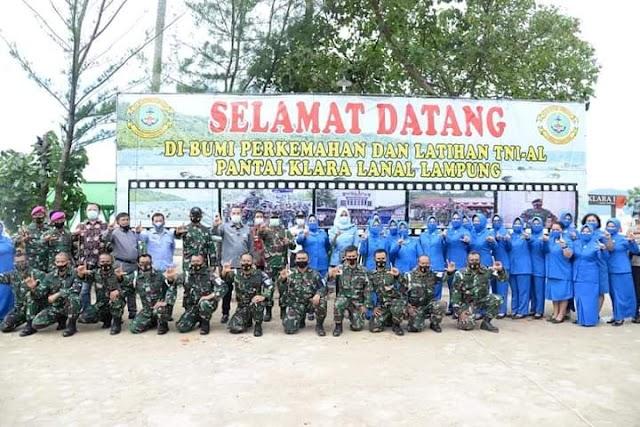 Bupati Pesawaran Mengapresiasi Program Ketahanan Pangan Lanal Lampung