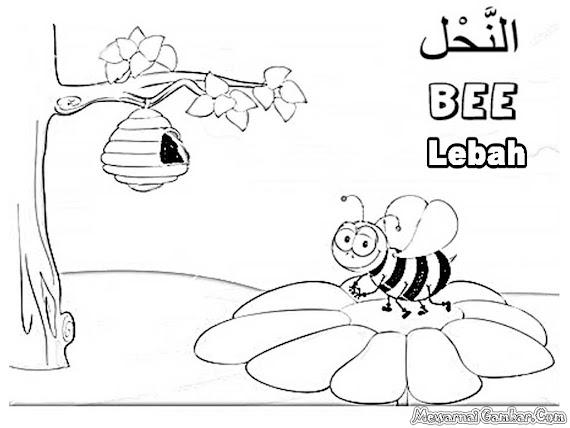 [√ Print!] Gambar Mewarnai Lebah