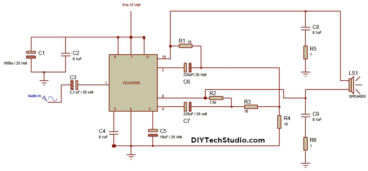 DIYTechStudio: How to make a 20 Watt Bridge Amplifier ...