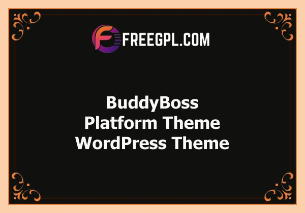 BuddyBoss – Platform Theme Free Download