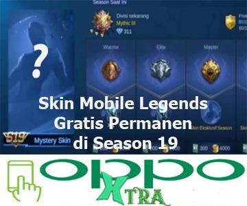 Skin Mobile Legends Gratis Permanen di Season 19