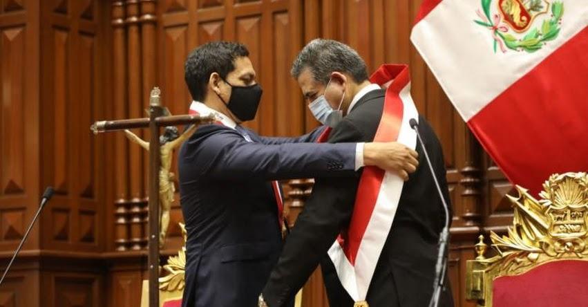 Manuel Arturo Merino de Lama juramentó como presidente de la República (10 Noviembre 2020)