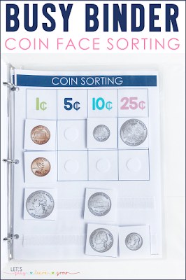 Coin Sorting Busy Binder Activity
