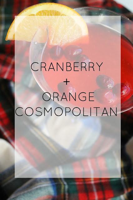 easy cranberry cocktail- great for thanksgiving dinner or holiday parties!