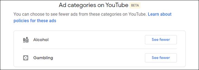 إعدادات تخصيص إعلانات youtube