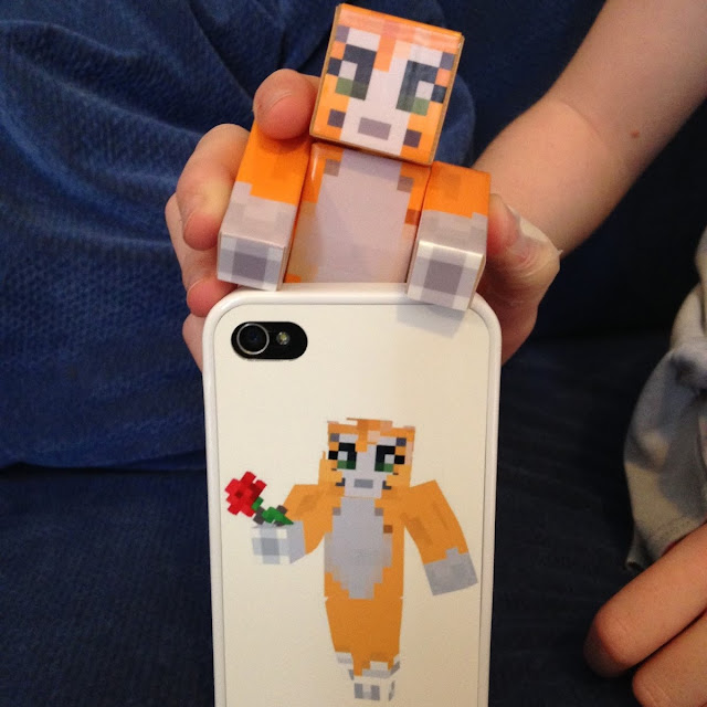 Stampy toy and stampy phone cover