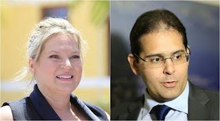 Joice Hasselmann e seu marido investigado, Daniel França Mendes de Carvalho