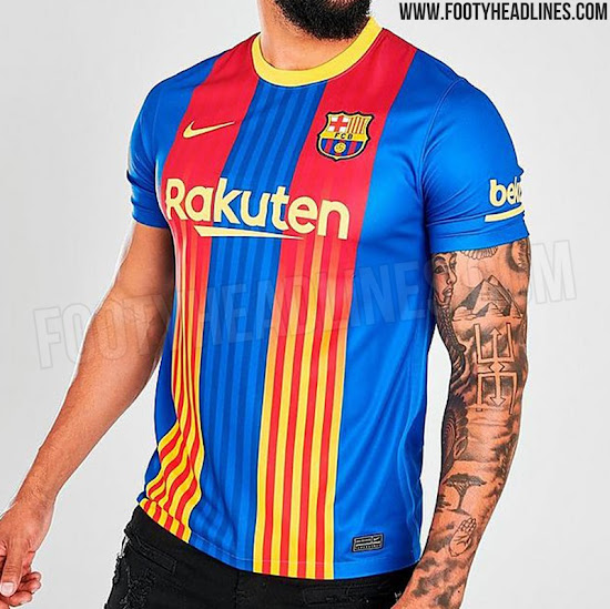 Fc Barcelona 20 21 Fourth Kit Leaked Official Pictures Footy Headlines