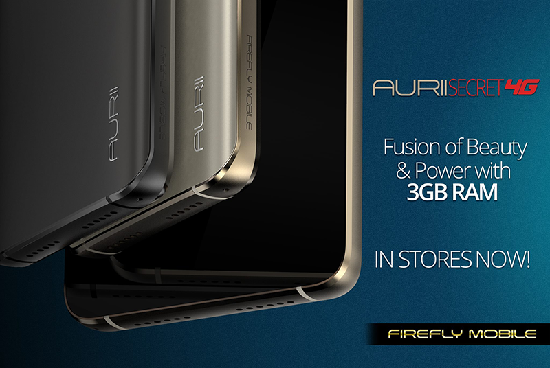 Firefly Mobile Aurii Secret 4G With 3 GB RAM Now Out, Priced At PHP 5990!
