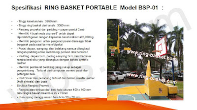 harga tiang basket portable